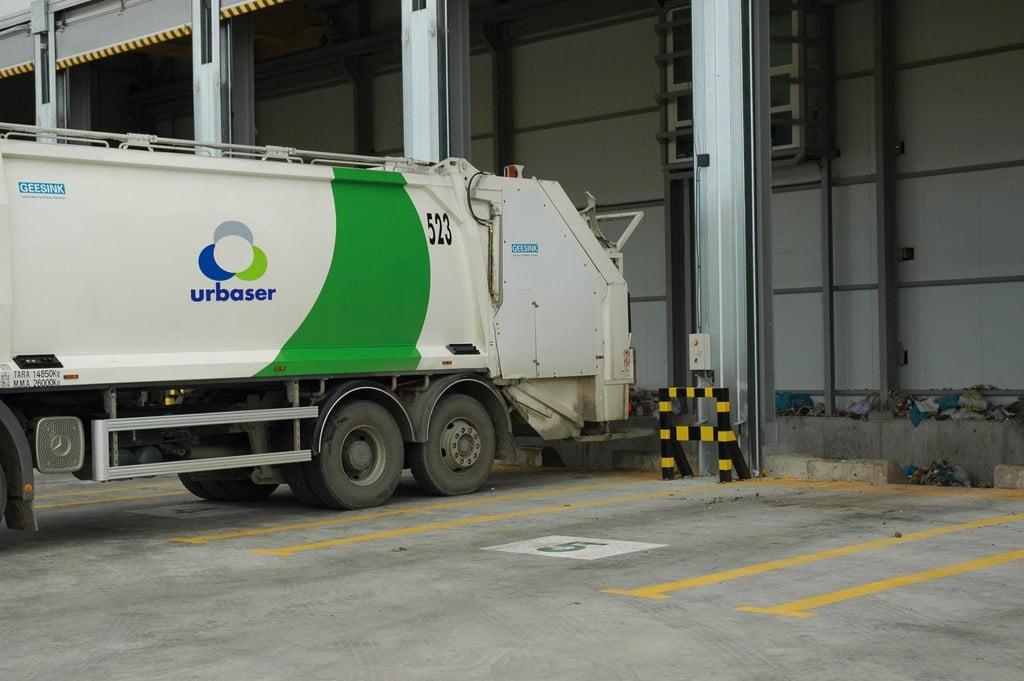 Área de descarga de residuos