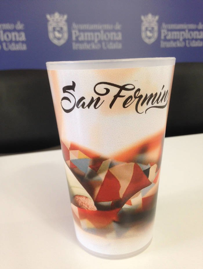 Vasos reutilizables en San Fermín 2017