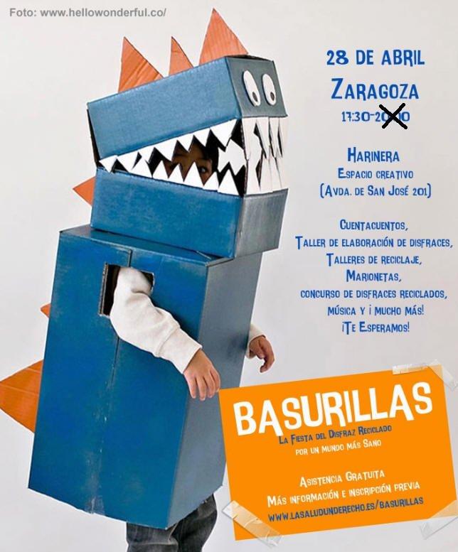Fiesta del disfraz reciclado en Zaragoza