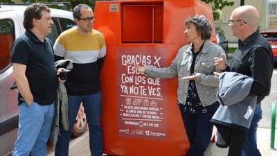 Zaragoza triplicará en un año el reciclaje textil