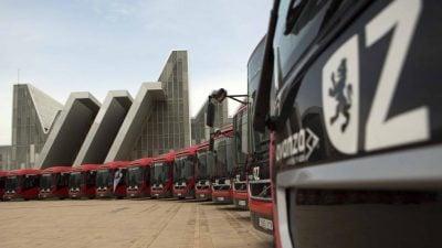 Zaragoza contará en septiembre con sus primeros cuatro autobuses eléctricos