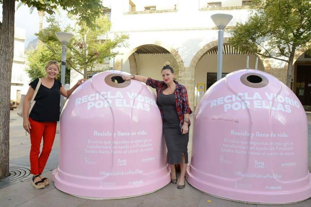 'Contenedores rosas' para apoyar a la lucha contra el cáncer
