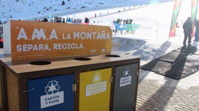 Fomentando el reciclaje en las estaciones de esquí